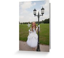 Pop idol Sonia as the good fairy in Sleeping Beauty Greeting Card