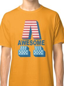 Awesome - U S A - United States of America Classic T-Shirt