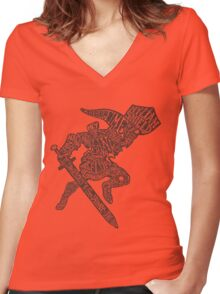 A Hylian Hero Women's Fitted V-Neck T-Shirt