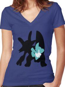 Mudkip - Marshtomp - Swampert Women's Fitted V-Neck T-Shirt
