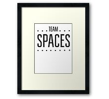 Team Space Framed Print
