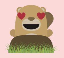 Mole Emoji Heart and Love Eyes Baby Tee