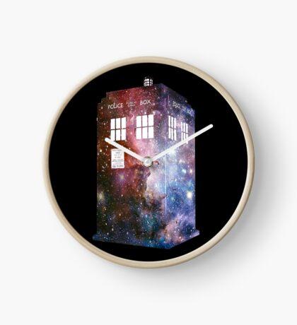 tardis galaxy Clock