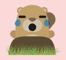 Mole Emoji Teary Eyes and Sad Look One Piece - Short Sleeve