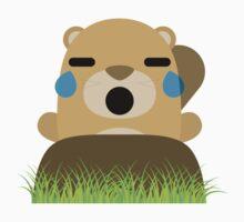 Mole Emoji Teary Eyes and Sad Look Kids Tee