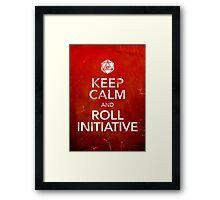 Keep Calm and Roll Initiative (Print) Framed Print