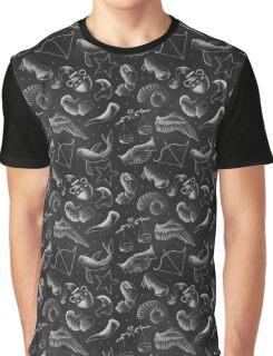 Chalkboard Astrology Pattern Graphic T-Shirt