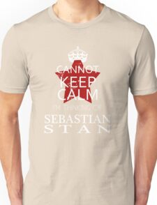 CANNOT KEEP CALM I'M THINKING OF SEBASTIAN STAN ON T-SHIRT Unisex T-Shirt