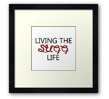 Living the Sugg life Framed Print