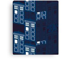 LATIN TARDIS Canvas Print