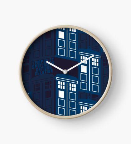 LATIN TARDIS Clock