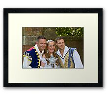 Jamie Rickers, Pop idol Sonia and Marc Baylis in Sleeping Beauty Framed Print