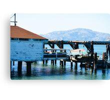 California Boat House Canvas Print