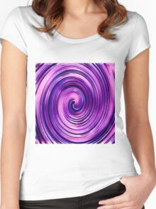 Purple Icing Swirl Women's Fitted Scoop T-Shirt