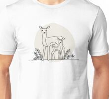 A doe and her fawn Unisex T-Shirt