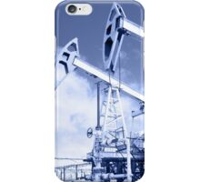 Pump jack on a oilfield. Toned. iPhone Case/Skin
