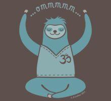 Om Yoga Sloth - blue Kids Clothes