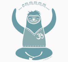 Om Yoga Sloth - blue One Piece - Long Sleeve