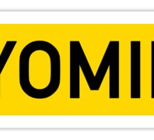Wyoming Y Sticker