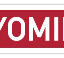 Wyoming R Sticker