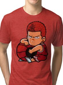 Tensai Basket Ball Man  Tri-blend T-Shirt