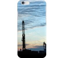 Drilling Rig at sunset  iPhone Case/Skin