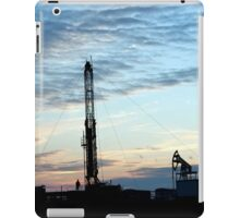 Drilling Rig at sunset  iPad Case/Skin