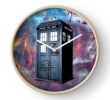 tardis police box galaxy Clock