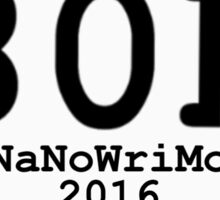 80k NaNoWriMo Celebration  Sticker