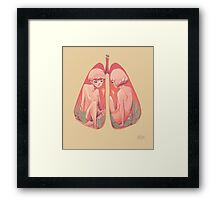 Between Two Lungs Framed Print