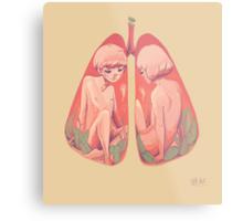 Between Two Lungs Metal Print