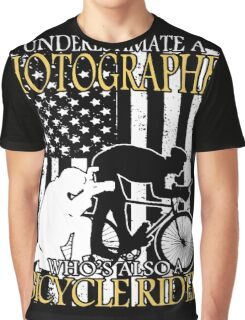 Bicycle Photographer Old Man Graphic T-Shirt
