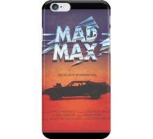 The Last of the V8's - Vintage Custom Mad Max Poster  iPhone Case/Skin