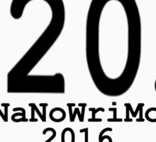 120k NaNoWriMo Celebration  Sticker