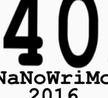 140k NaNoWriMo Celebration  Sticker