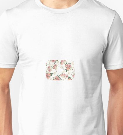 YouTube Floral Design #1 Unisex T-Shirt