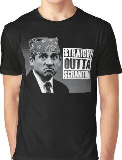 Prison Mike Straight Outta Scranton Graphic T-Shirt