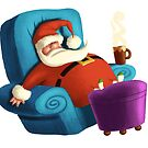 Santa deserves a rest. by Mike Cressy