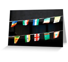 Strings of National Flags Greeting Card