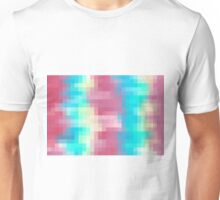blue yellow and pink pixel abstract background Unisex T-Shirt