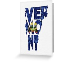 Vermont Typographic Map Flag Greeting Card