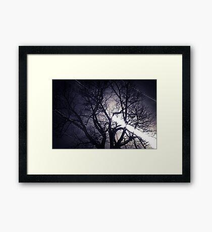 Full moon & Startrails Framed Print