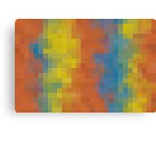 orange blue and yellow pixel abstract background Canvas Print