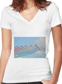 Red, White and Blue Arrows Women's Fitted V-Neck T-Shirt