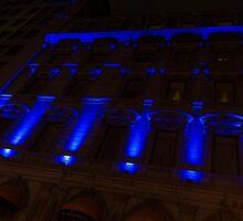 City Night Walks – Blue Highlights Facade by Georgia Mizuleva