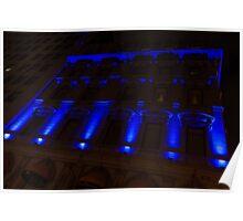 City Night Walks – Blue Highlights Facade Poster
