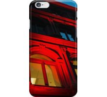 City Night Walks - the Red Facade iPhone Case/Skin