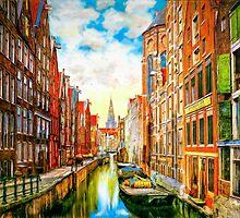 Amsterdam Canal by Wib Dawson