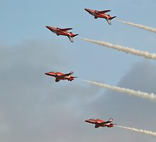 Mirror Formation   The Red Arrows by mike  jordan.