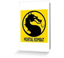 Mortal Kombat - Matrial Art - Dragon Greeting Card